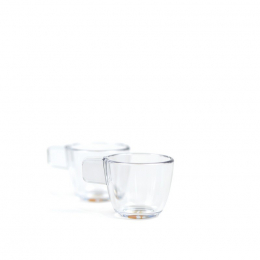 Set of 2 unbreakable transparent cups - Handpresso
