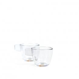 Set mit zwei unzerbrechlichen durchsichtigen Tassen– Handpresso