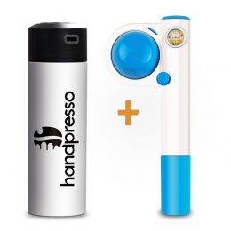 Pack Handpresso Pump Pop blue and white Thermo-flask